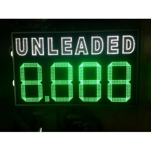 Επιγραφή τιμών για βενζινάδικο